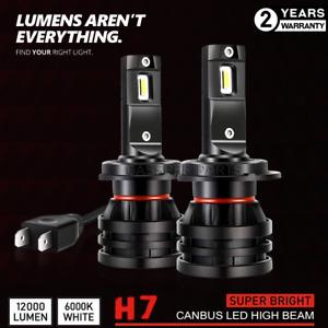 2x Bulbs H7 LED Headlight High Beam 90W White 6000K BMW 3 Series E90 E91 04-12
