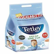 More details for tetley one cup decaffeinated tea bags (pack of 440) 1800a [tl08755]