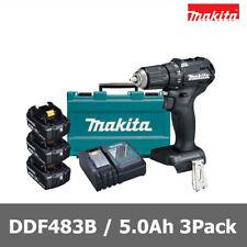 Makita Black DDF483B 18V 5.0Ah 3Pack Cordless Brushless Drill Driver / 220V