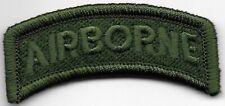 Vert 101st Airborne Division Languette Patch hook & loop tape Crochet Côté