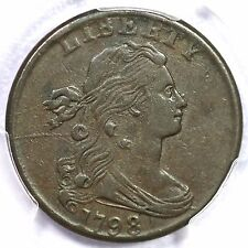 1798 S-181 R-3 PCGS XF 40 2nd Hair Style Small 8 Draped Bust Large Cent Coin 1c