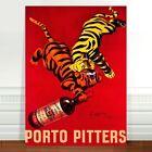 "Stunning Vintage Alcohol Poster Art ~ CANVAS PRINT 36x24"" ~ Porto Pitters"