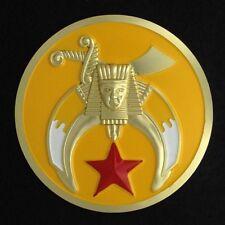 Masonic Shriner Car Auto Emblem (Yellow) SHA-2