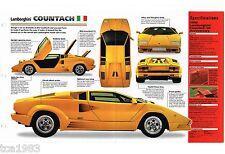 Lamborghini Countach Spec Sheet Brochure Catalog 198919901991 Fits Lamborghini Jalpa