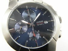 Guess Gents Steel Sapphire Chrono Bracelet Watch - 100m