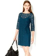 BNWT Monsoon Lauren Teal Lace Tunic Shift Dress - Sz 22 - Wedding Cocktail Party