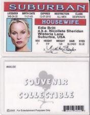 Edie Britt as Nicollete Sheridan Desperate Housewives id card Driver's License
