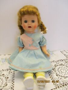 Vintage Ideal Saucy Walker W 16 Cryer Works Walking  Doll with clothes dress