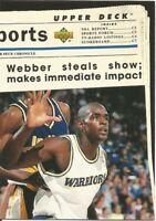 Chris Webber Upper Deck SE 1993/94 - NBA Basketball Card #207