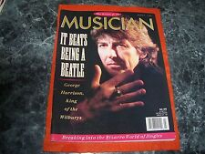 george harrison musician MAGAZINE march 1990 COVER exc. king of the wilburys