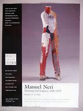 Manuel Neri Art Gallery Exhibit PRINT AD -  2001