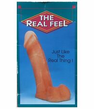 """The Real Feel 8"""" Jelly Penis Phallus and Testicles - Just Like The Real Thing!"""