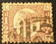 DUZIK: GB QV SG 48 1/2d. red L-L Pl. 6 used stamp (No.1728) ***