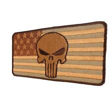 punisher skull USA flag AOR1 desert american bordado parche sew iron on patch