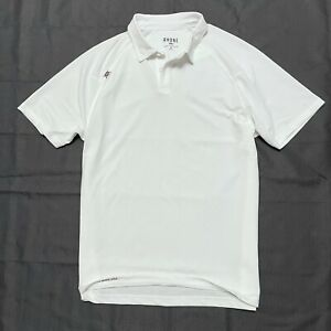 Rhone M Medium Delta Pique Polo Shirt White