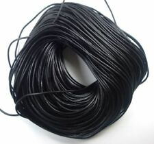 Lederband Schwarz 3mm Schmuckherstellung Lederschnur für Halsketten Anhänger C33
