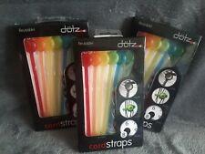 Dotz reusable cord straps, 3 packs new, bundle & secure cables + Identity tabs