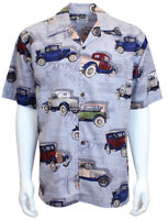 David Carey Ford Vintage Model A Cars Hot Rod Camp Button Down Work Shirt 48908A