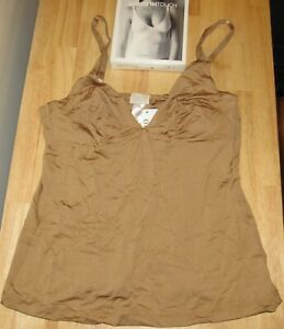 HANRO Smooth Touch Soft Cup Bra Camisole Nude Skin Medium NEW 1534 Tank Top