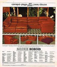 PUBLICITE ADVERTISING 045  1976  ROCHE-BOBOIS  canapé-plage cuir