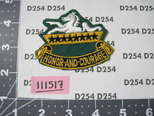 Army vintage 8th Cavalry Regiment Patch cut edge Green twill 1950's 1960's era