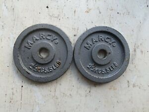 Marcy 2.5 Plates x 2 1 inch hole