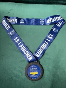 Akron Goodyear Half Marathon Run Finishers medal