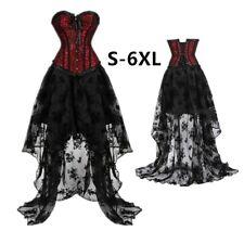 Plus Size Lace Corset Dress Halloween Costume Hot Body Shapewear Corsets Dresses