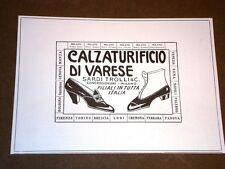Pubblicità d'epoca per collezionisti Anno 1918 Scarpe - Calzaturificio di Varese