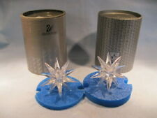 "Swarovski Crystal ""Star"" Candle Holders (Pair)"