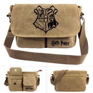 Men Messenger Bag Casual Travel Bag Harry Potter Cartoon School Bag Shoulder Bag