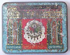 Antique Rare OTTOMAN Turkish Arab Cigarette Tin Case Litho Box CONSTANTINOPLE