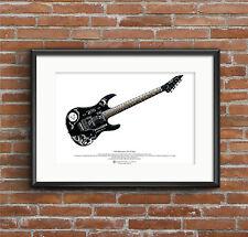 Kirk Hammett's ESP KH-2 Ouija guitar ART POSTER A3 size