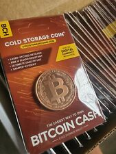 BITCOIN CASH (BCH) CRYPTO COLD STORAGE COIN 1 oz COPPER .999  NEW!