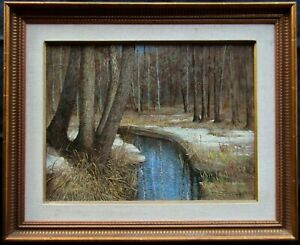 Signed Chinese or Taiwanese Impressionist Landscape Large Older Oil Painting NR