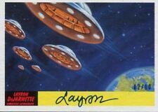 Mars Attacks The Revenge Artist Autograph Base Card [10] #53 Layron DeJarnette