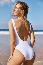 Cotton On Body Womens Henley One Piece Cheeky  In  White