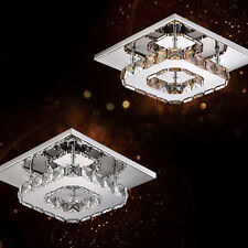 Square 20cm 12W LED Crystal Ceiling Lights Chandeliers Bilayer Aisle Light New