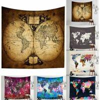 Mandala Hippie Boho World Map Tapestry Wall Hanging Bedspread Mats Home Decor