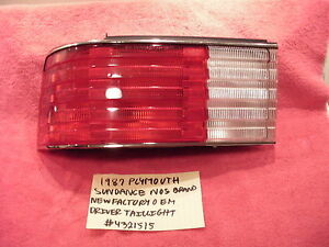 1987 PLYMOUTH SUNDANCE BRAND NEW NOS FACTORY OEM DRIVERS TAILLIGHT # 4321515