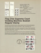 20 cent FLAG BOOKLET PANE OF SIX 1981 SOUVENIR PAGE SCOTT # 1896a SP536