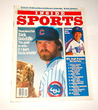1985 NEWSSTAND ! Inside Sports RICK SUTCLIFFE Chicago Cubs !