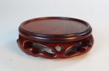 Rosewood Round base Display stand For vase Figurine Miniature 1.5 inch