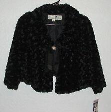JOLT Faux fur Black Shrug Coat Size S