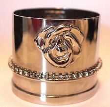 GIANNI VERSACE Rose Bangle with Crystals