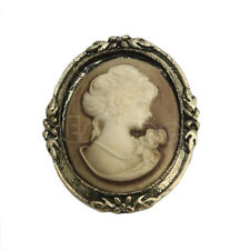 Vintage Design Bronze Queen Style Lady Cameo Brooch Pin Wedding Party New Gift