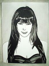 Canvas Painting Kim Kardashian Portrait B&W Art 16x12 inch Acrylic