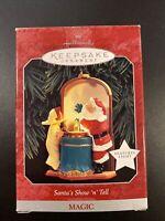 Hallmark Keepsake Christmas Ornament Santa's Show and Tell Lights Magic 1998