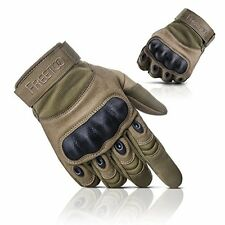 FREETOO? Adjustable Mens Tactical Gloves Hard Knuckle Sewn-in Brass Palm XL #56W