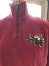 Polo By Ralph Lauren Vintage 1/4 Zip Sweater Red. Medium. Classic 3 Pony Logo